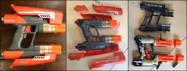 Nerf Blasters come apart fairly easily. Getting it back together...that's the tricky part.