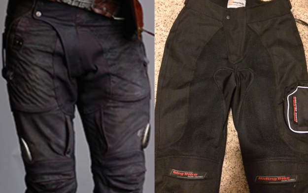 Star-Lord on the left. My pants on the right.
