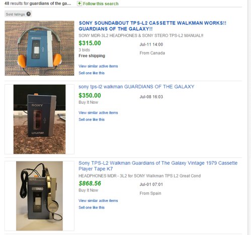 These are a few TPS-L2s that sold within the last 90 days on eBay. If you see one of these in a thrift store, buy it.