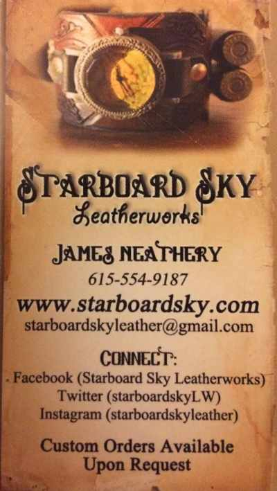 Starboard Sky Leather Business Card